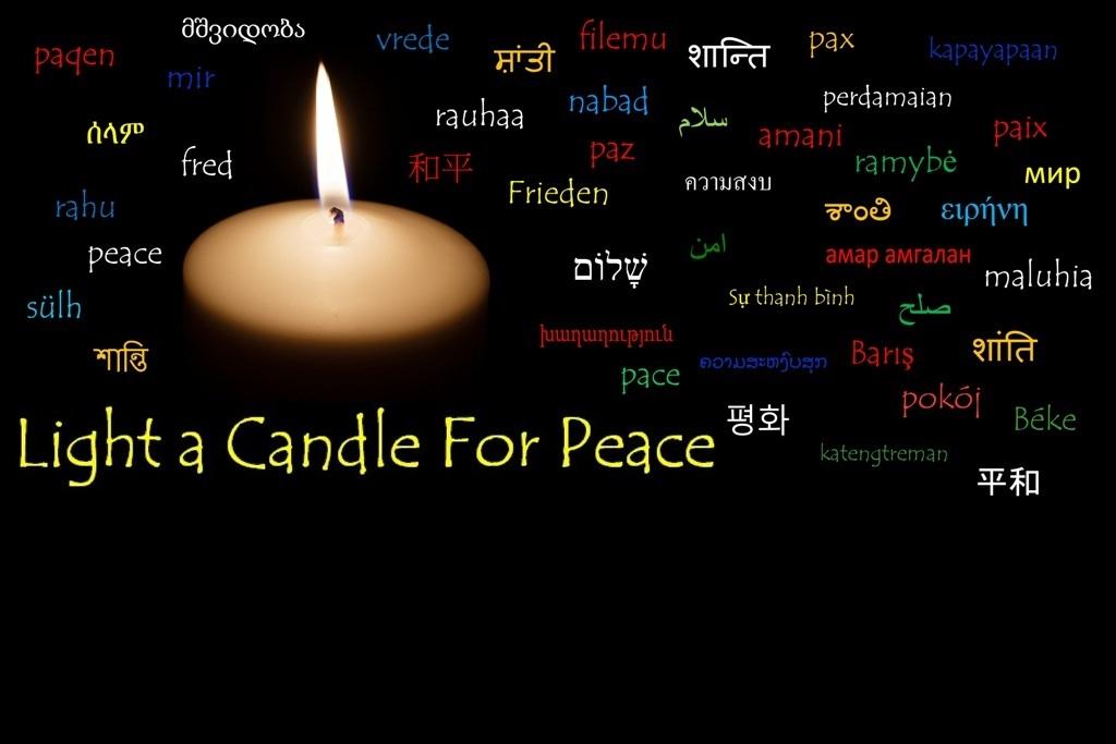 평화를 위해 촛불을 켜십시오 – 21 년 2020 월 XNUMX 일 월요일